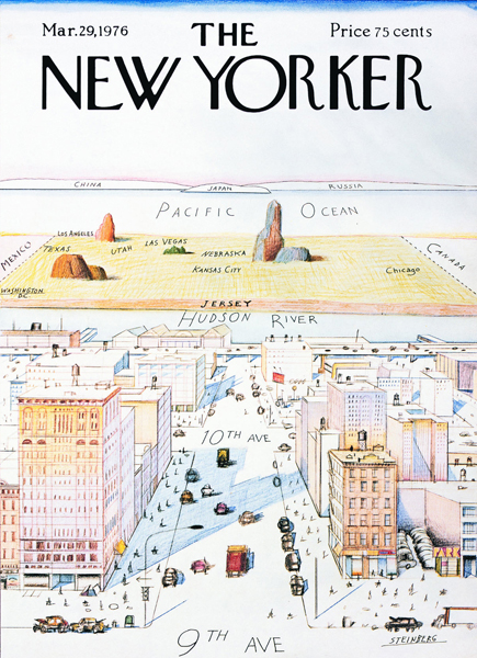 A View of World from 9th Avenue - New Yorker