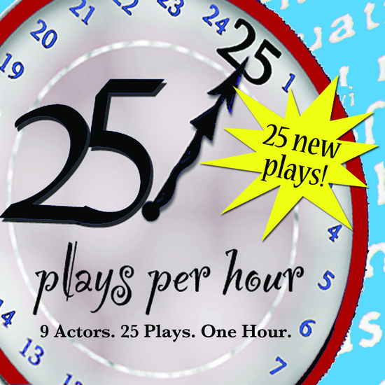 25 plays per hour poster