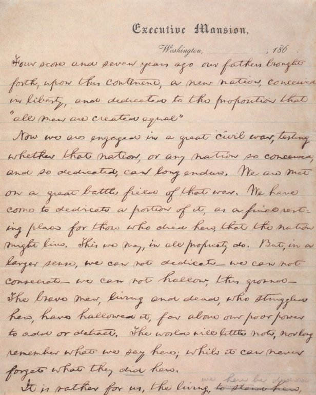 Nicolay copy Gettysburg address