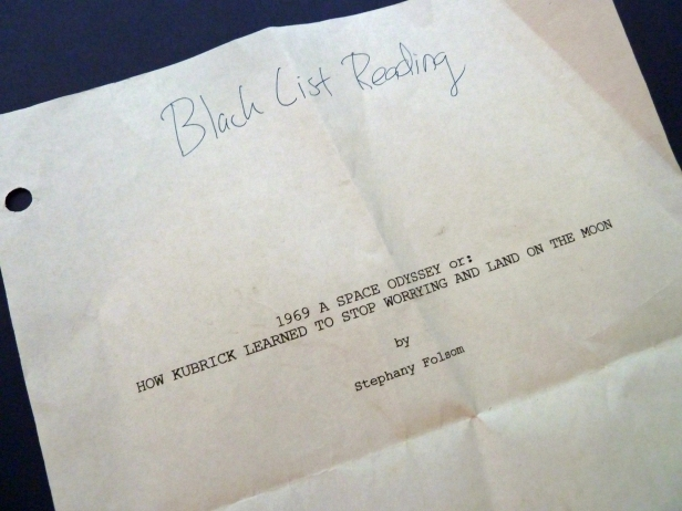 1969 script title page used at Black List Live event LA Film Fest