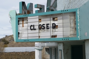 marquee closed theater