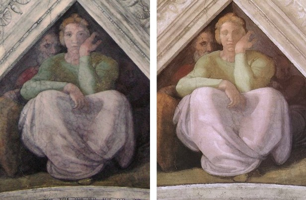 Jesse_spandrel_beforeandafter sistine chapel restoration