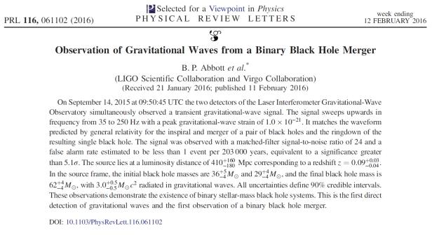LIGO PRL paper front page author