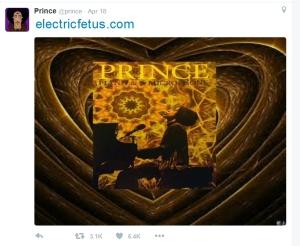 Prince Last Tweet